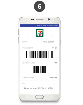 How to Top Up Credit with MOLpay 7-Eleven – EzCab